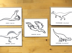 Dinosaur Coloring Cards: Carnivores